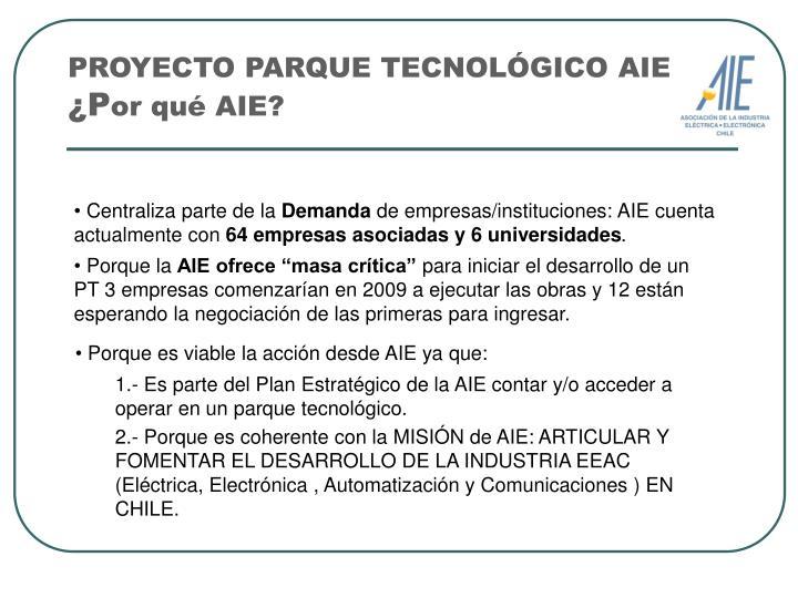 PROYECTO PARQUE TECNOLÓGICO AIE