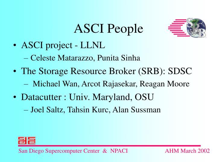 ASCI project - LLNL