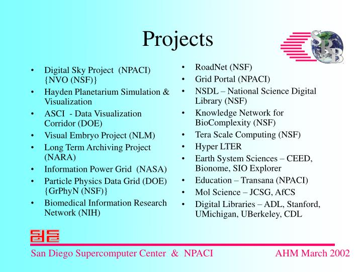 Digital Sky Project  (NPACI)  {NVO (NSF)}