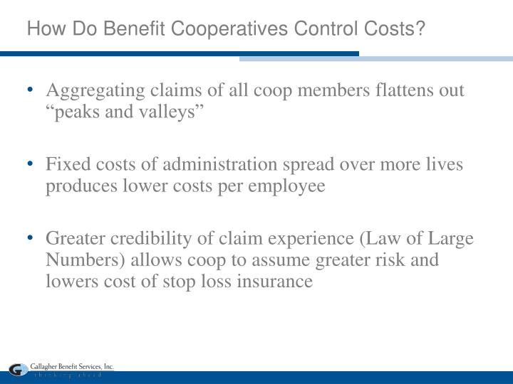 How Do Benefit Cooperatives Control Costs?
