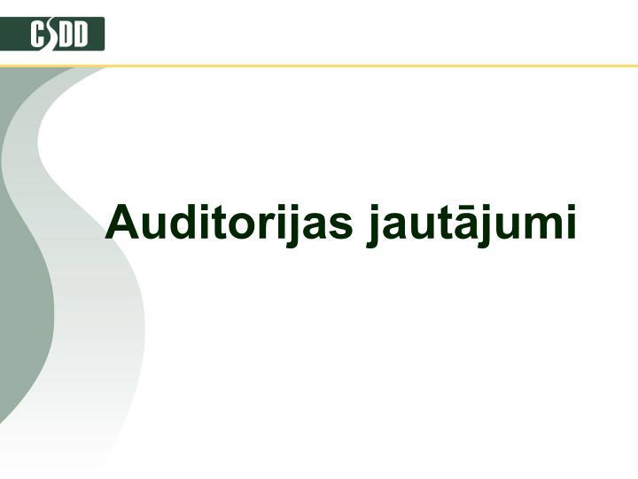 Auditorijas jautājumi