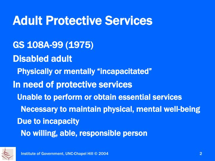Adult ca protective services