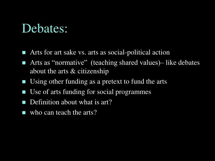 Debates: