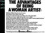 guerrilla girls poster advantages of being a woman artist