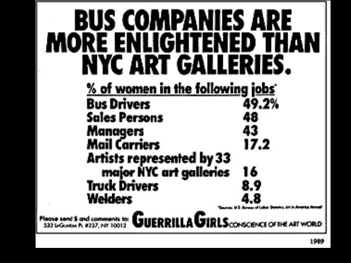 Guerrilla Girls Poster—Bus companies