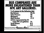 guerrilla girls poster bus companies