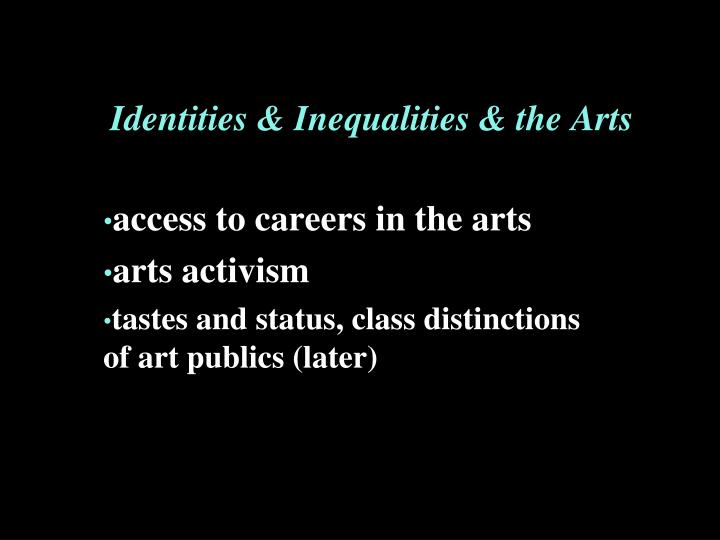 Identities inequalities the arts