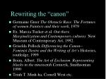 rewriting the canon