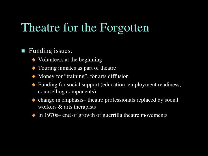 Theatre for the Forgotten