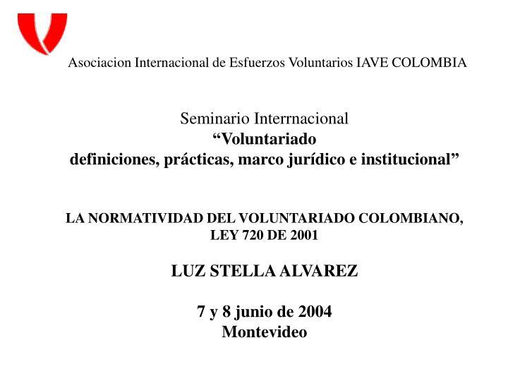 Asociacion Internacional de Esfuerzos Voluntarios IAVE COLOMBIA