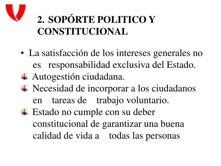 SOPÓRTE POLITICO Y