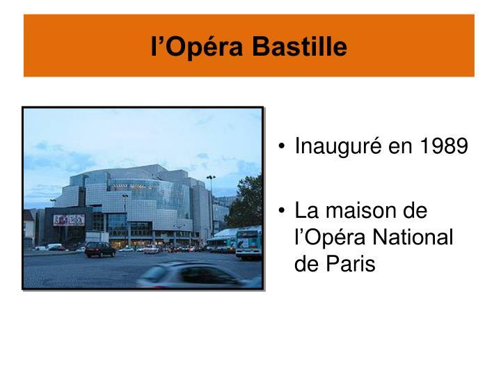 l'Opéra Bastille