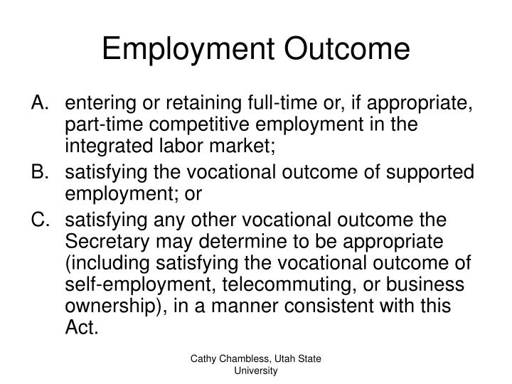 Employment Outcome