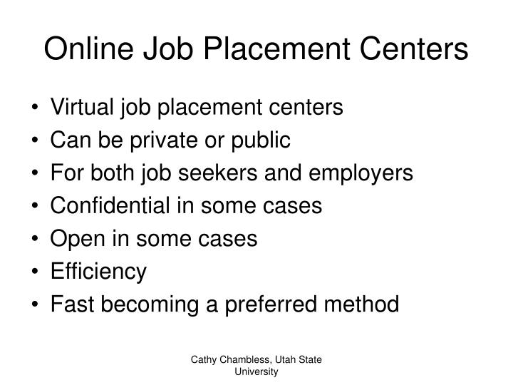 Online Job Placement Centers