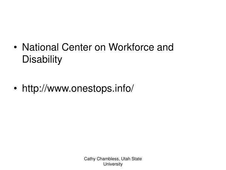 National Center on Workforce and Disability