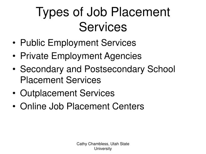 Types of Job Placement Services