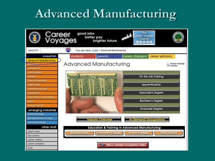 Advanced Manufacturing