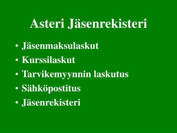 Asteri Jäsenrekisteri