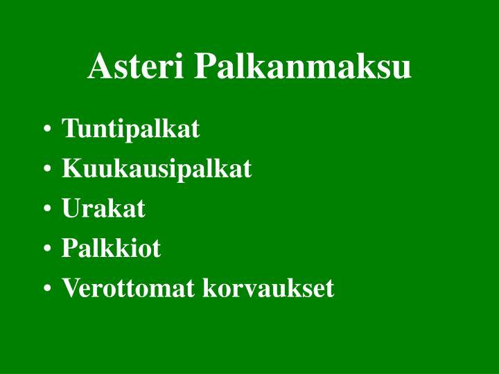 Asteri Palkanmaksu