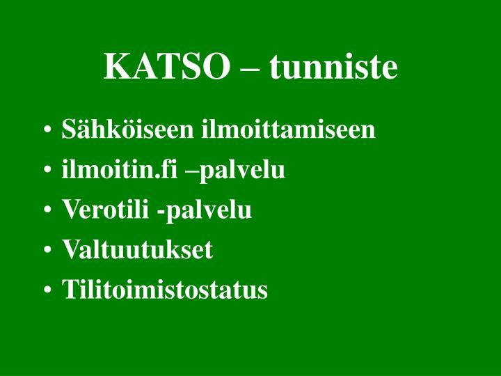 KATSO – tunniste