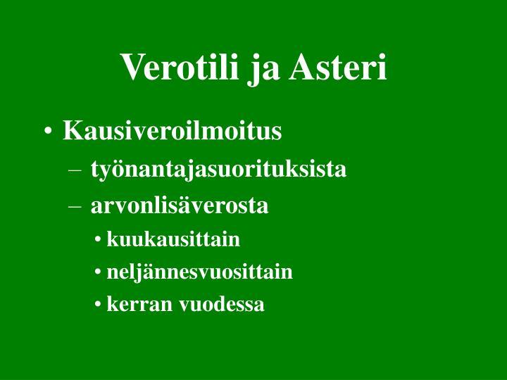 Verotili ja Asteri