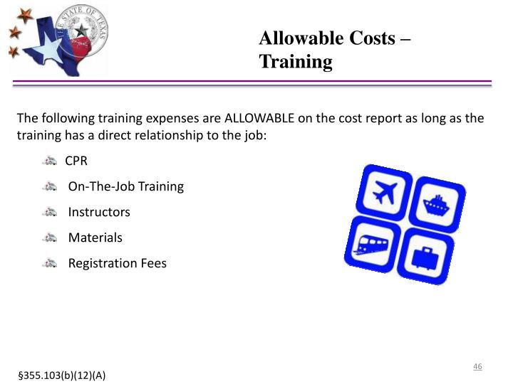 Allowable Costs –