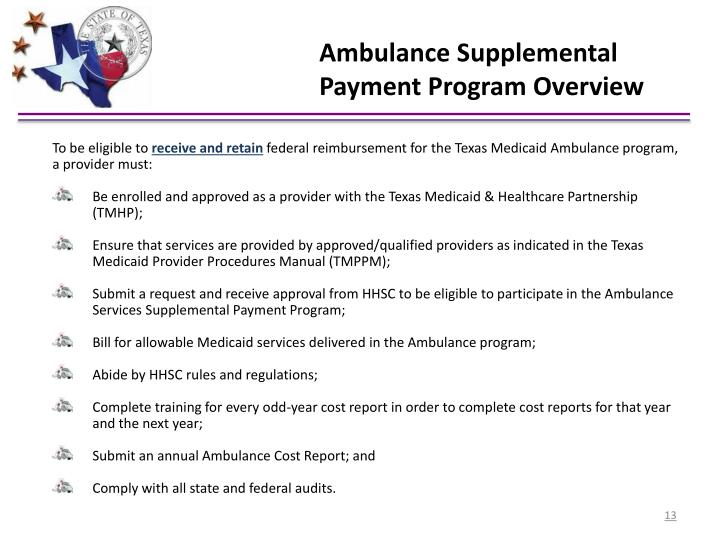 Ambulance Supplemental Payment Program Overview