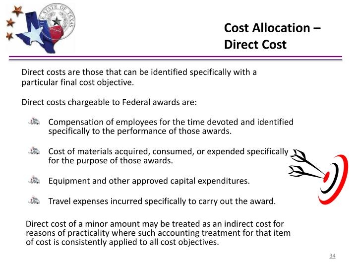 Cost Allocation – Direct Cost