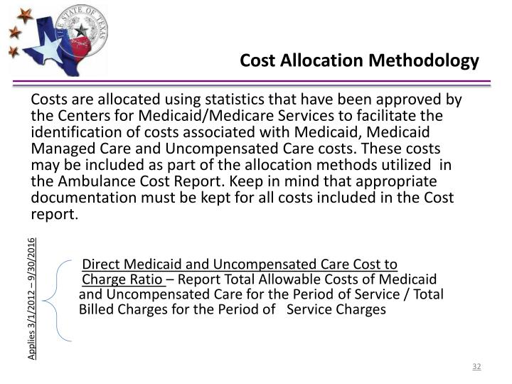 Cost Allocation Methodology