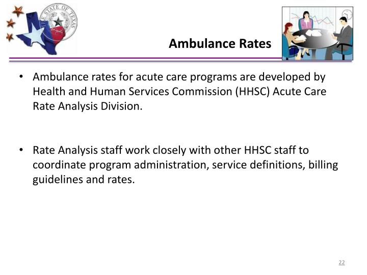 Ambulance Rates
