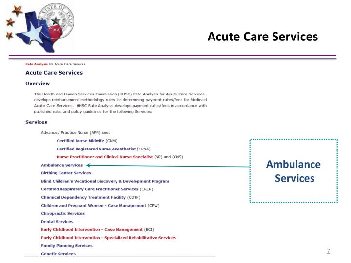 Acute Care Services