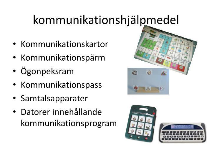 kommunikationshjälpmedel