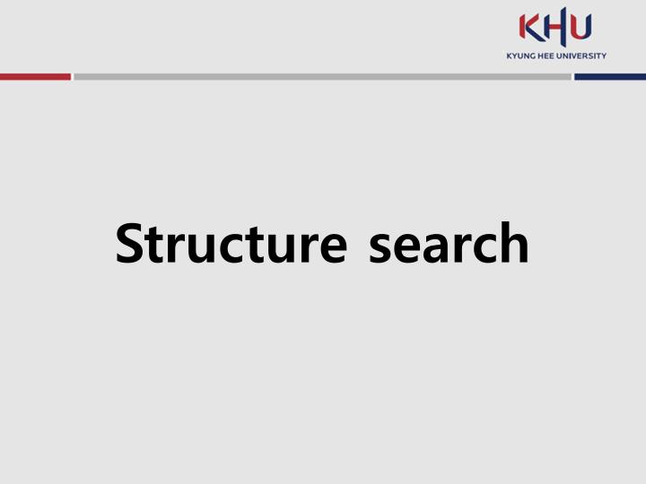 Structure search