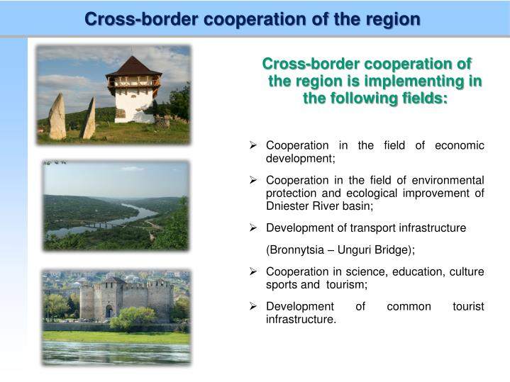 Cross-border cooperation of the region