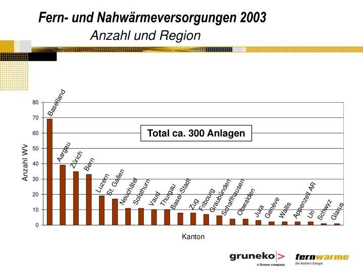 Fern- und Nahwärmeversorgungen 2003