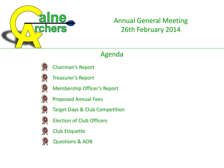 Membership Officer's Report
