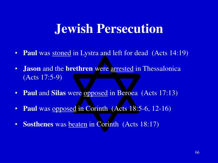 Jewish Persecution