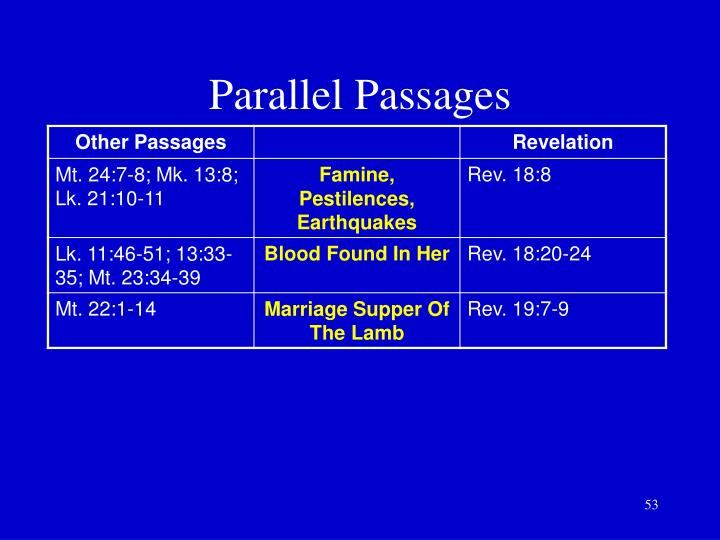 Parallel Passages