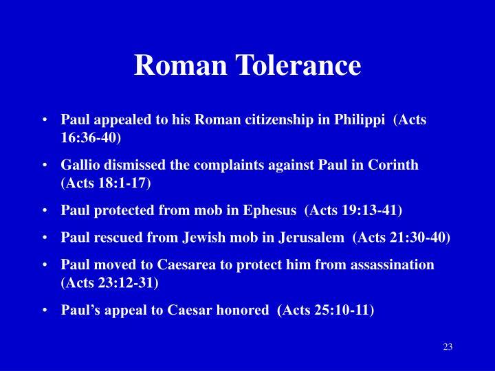 Roman Tolerance