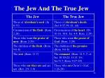 the jew and the true jew