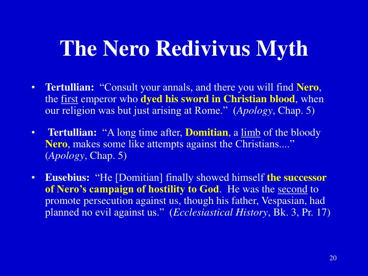 The Nero Redivivus Myth