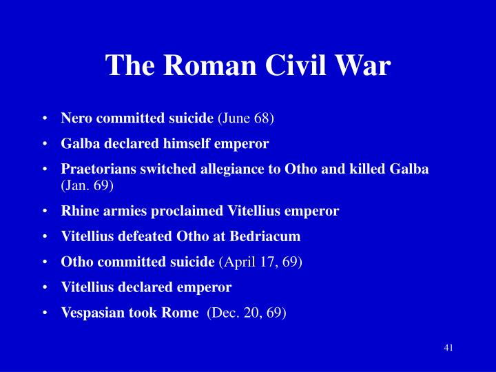 The Roman Civil War