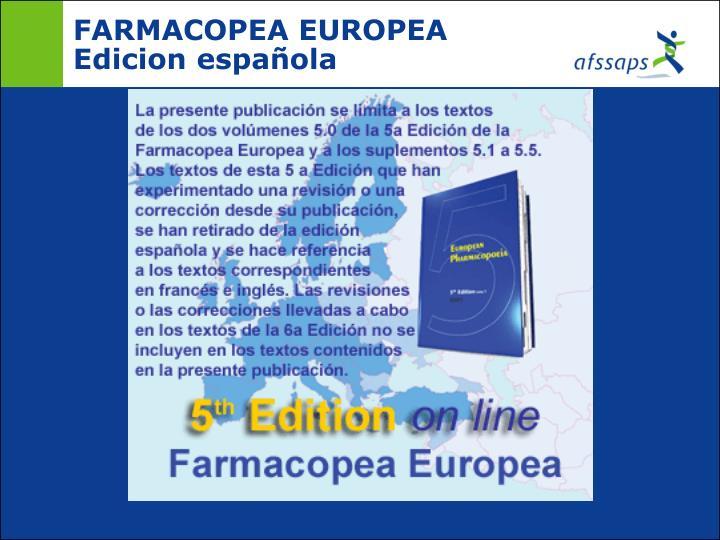 FARMACOPEA EUROPEA