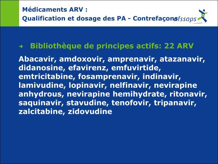 Médicaments ARV :