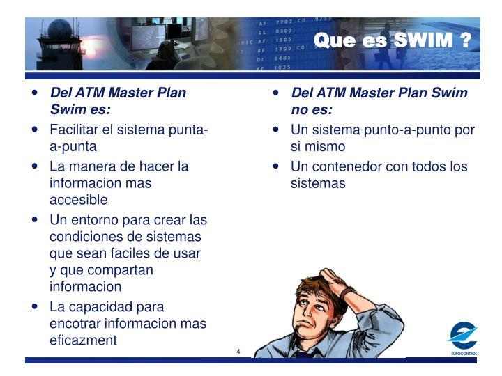 Del ATM Master Plan Swim es: