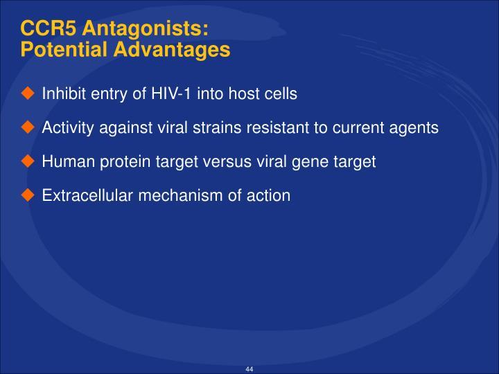 CCR5 Antagonists: