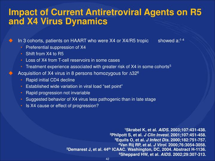 Impact of Current Antiretroviral Agents on R5 and X4 Virus Dynamics