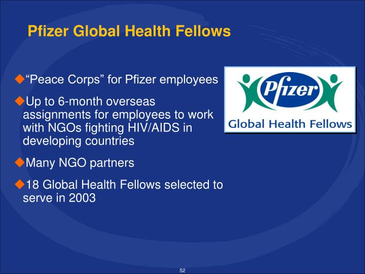 Pfizer Global Health Fellows