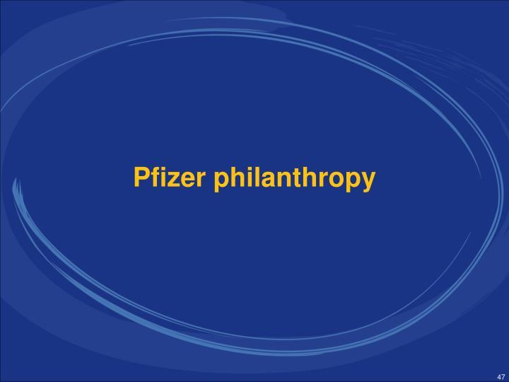Pfizer philanthropy