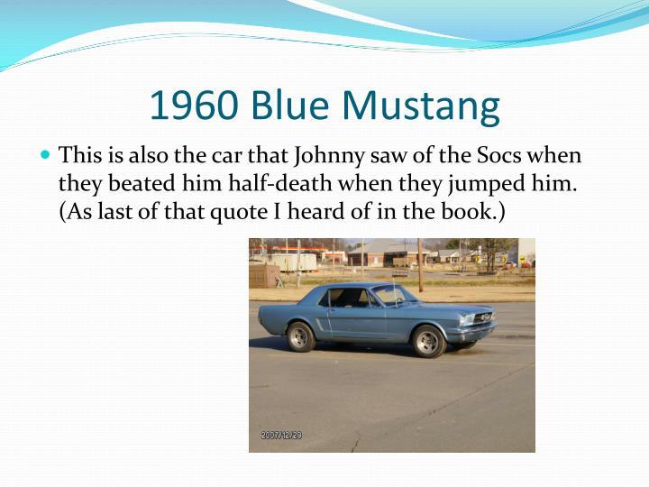 1960 Blue Mustang
